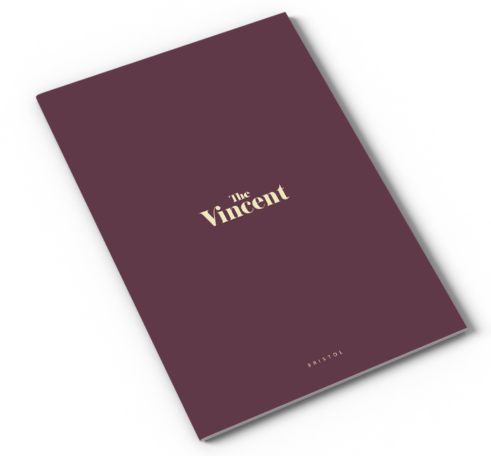 The Vincent Brochure cover mock up